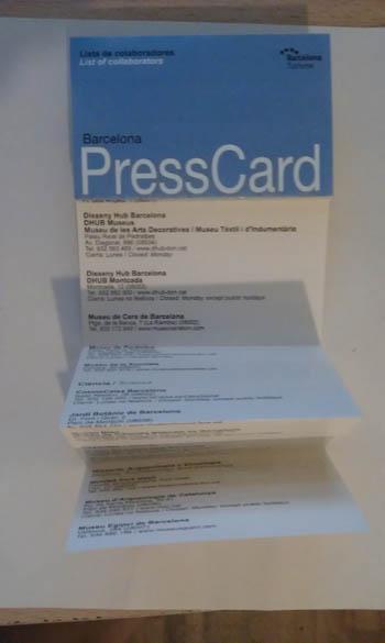 Lista dos lugares que se pode entrar com o Press Card.