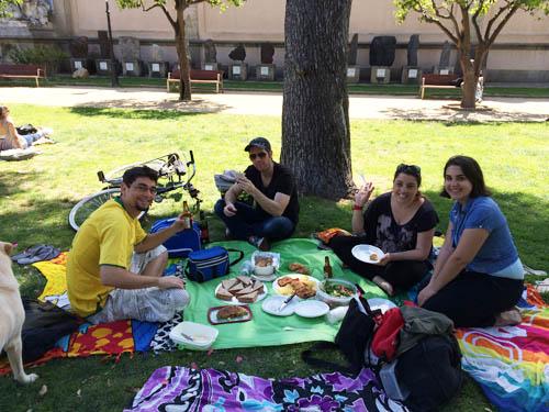 Rodrigo, David, Dani e Catarina em um pic nic que fizemos.