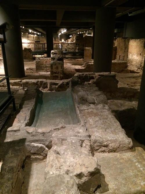 Restos romanos no Museu de História de Barcelona