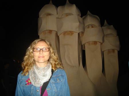 Eu na La Pedrera na noite dos museus de 2009.
