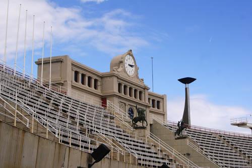 Estadio Olímpico, no Montjuïc, é gratuito.