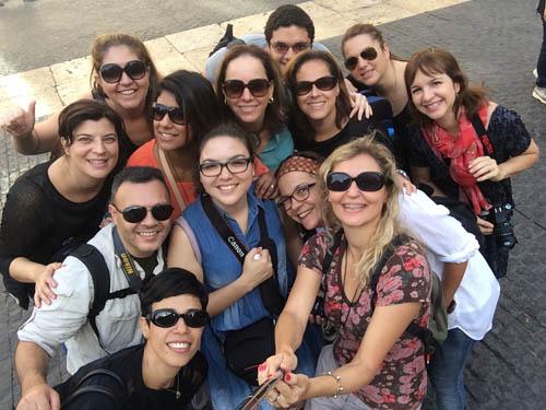 Foto antes de começar o tour pelo bairro Gótico.