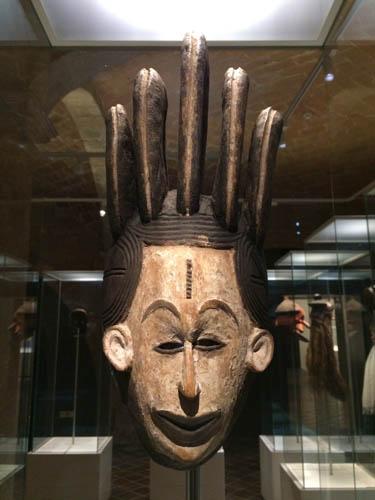 Máscara africana. Diz se não é engraçada?