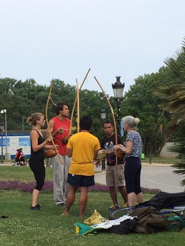 Capoeira no Parc da Ciutadella