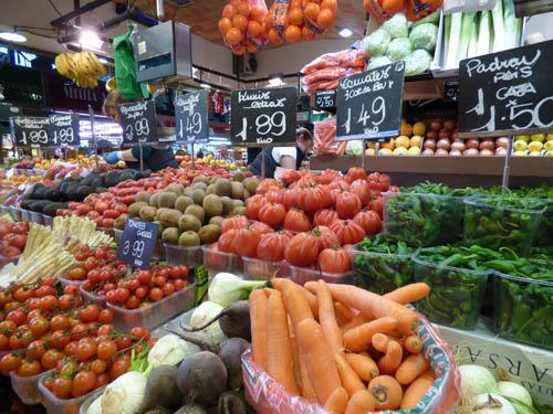 Frutas e verduras na Boqueria