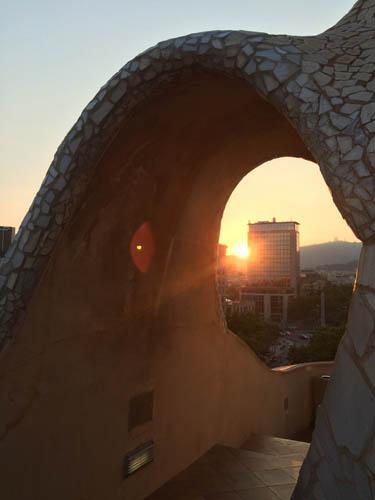 O Pôr do sol foi o primeiro que vi ao chegar.