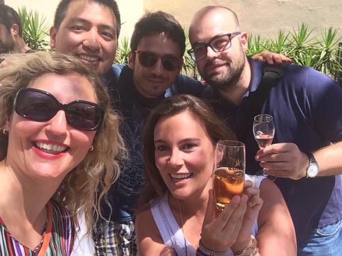 Selfie: Pedro, Ruben, Daniel, Eu e Miryam.