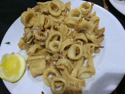 Calamares a la romana. (lula a milanesa)
