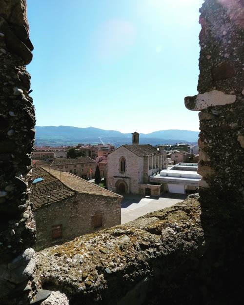 Ig de Sant Francesc vista da muralha.
