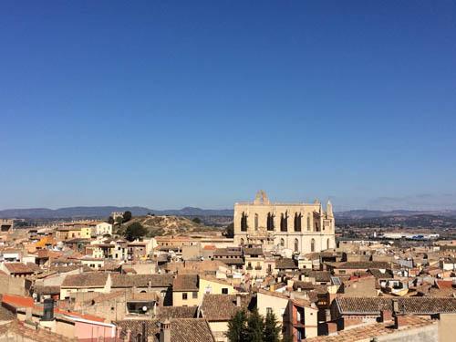 Montblanc vista do alto da torre da muralha.