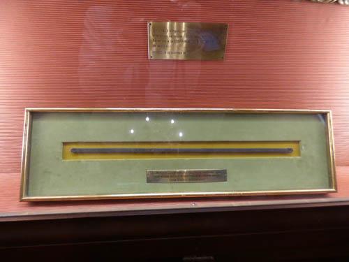 Cana gremial: usada para medir os tecidos de seda.