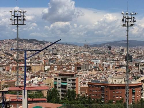 Barcelona vista da instalação da piscina.
