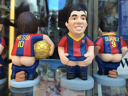 Caganer dos jogadores do Barça.