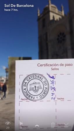 Meu primeiro carimbo na catedral do Porto!