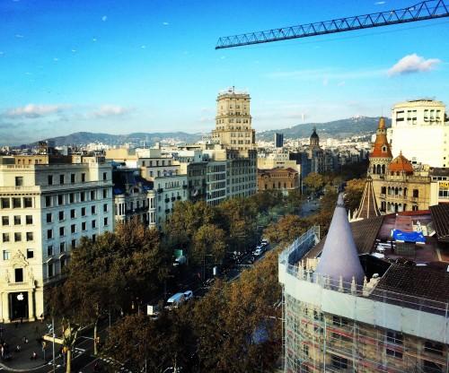 Vista Passeig de Gràcia. Foto minha.