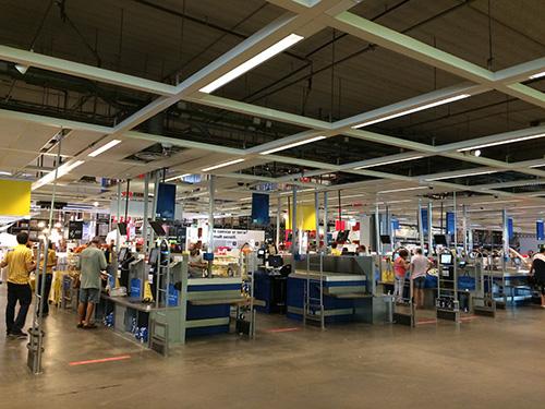 Área de pagamento da Ikea