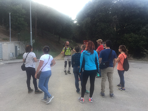 Nosso grupo com o guia de montanha.