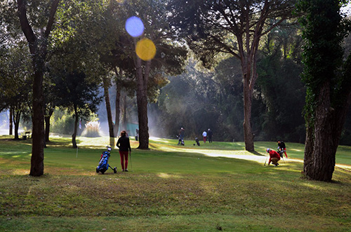 Foto publicitária do golf de Lloret.