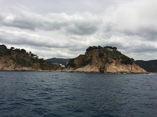Tossa de Mar vista do catamarã.
