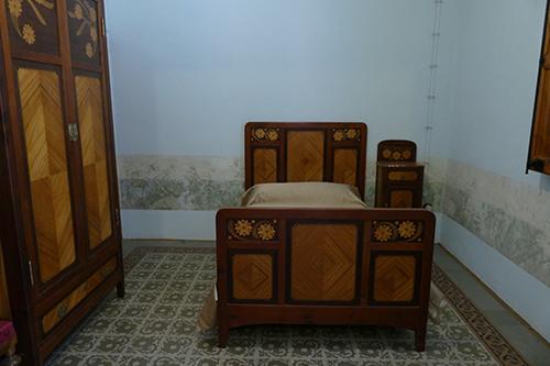Um dos quartos do pavilhão dos distinguidos