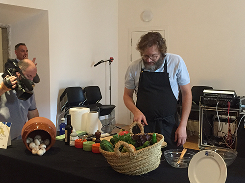 Rafa Peña cozinheiro do Gresca Barcelona. Um dos restaurantes participantes da jornada.