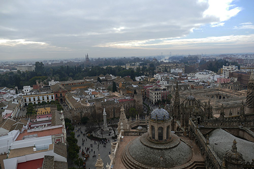 Vista de Sevilha do alto da Giralda